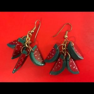 Vintage watermelon earrings